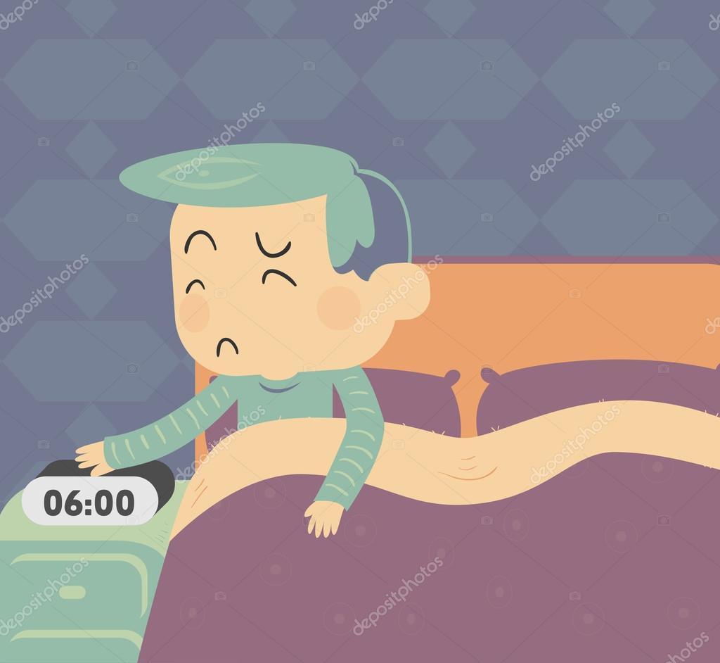 gar on triste se lever image vectorielle penguinline 110903716. Black Bedroom Furniture Sets. Home Design Ideas