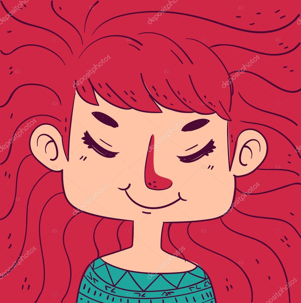 Imágenes Ojos Cerrados Para Colorear Chica De Dibujos Animados