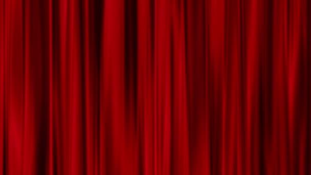 Rode gordijnen open transparante achtergrond — Stockvideo © -art ...