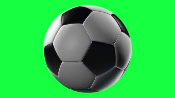 Futball labda forgatás egy átlátszó háttérrel