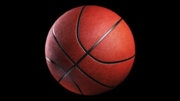 Basketbal rotace na černém pozadí