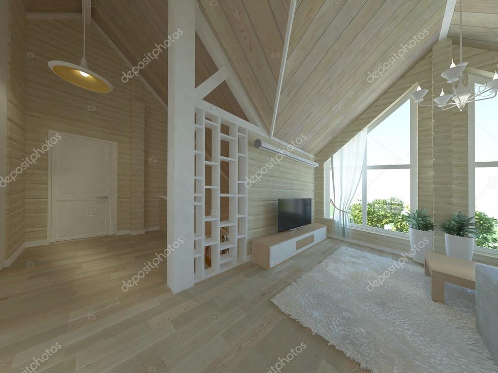 Modern interieur - woonkamer — Stockfoto © RomanThom #113219484