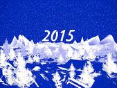 Fotografie Zimní abstraktní obrázek. Nový rok