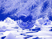 Fotografie Winter abstract picture New year