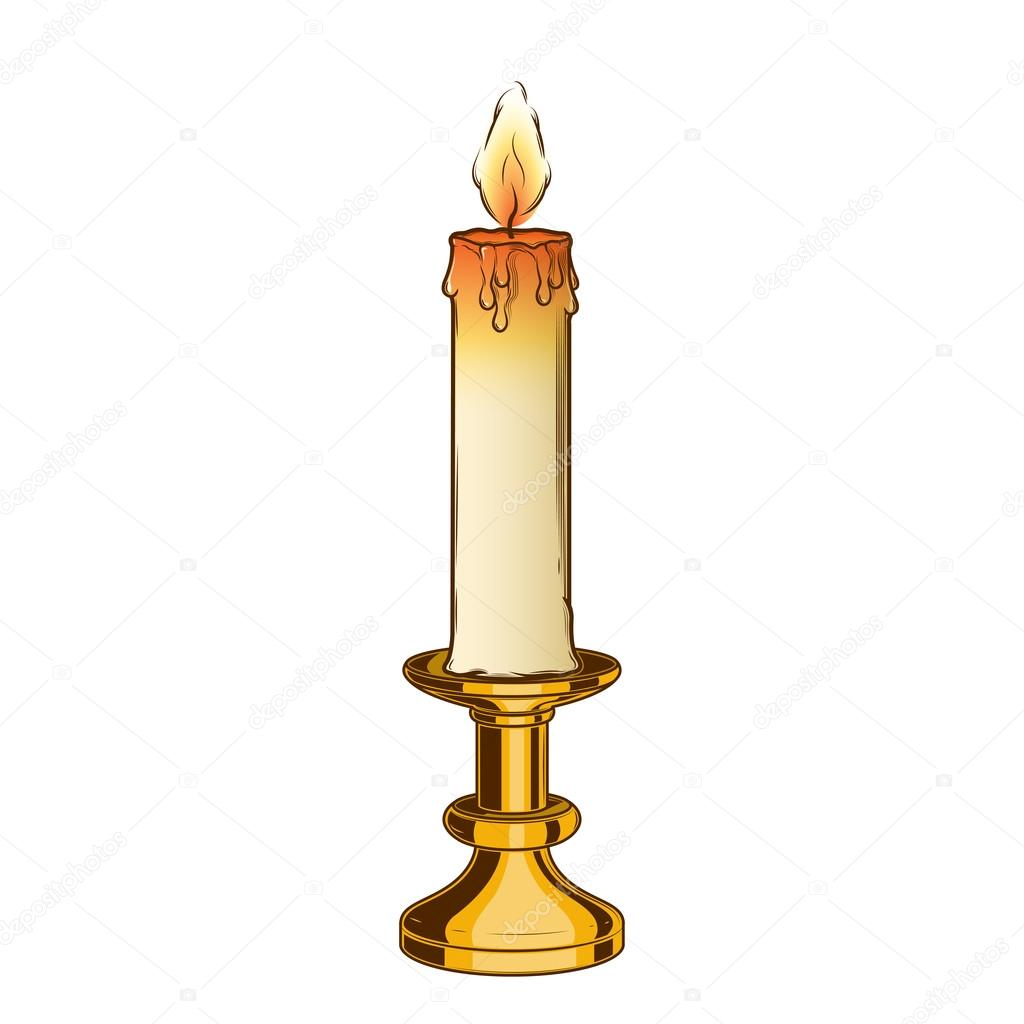 ᐈ Candle Drawing Stock Images Royalty Free Vintage Candle Illustrations Vectors Download On Depositphotos