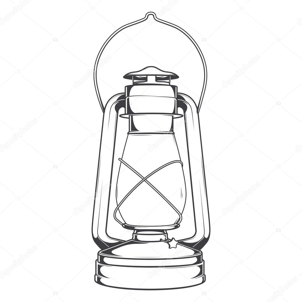 Antique Old Kerosene Lamp isolated on a white background ... for Drawing Oil Lamp  570bof