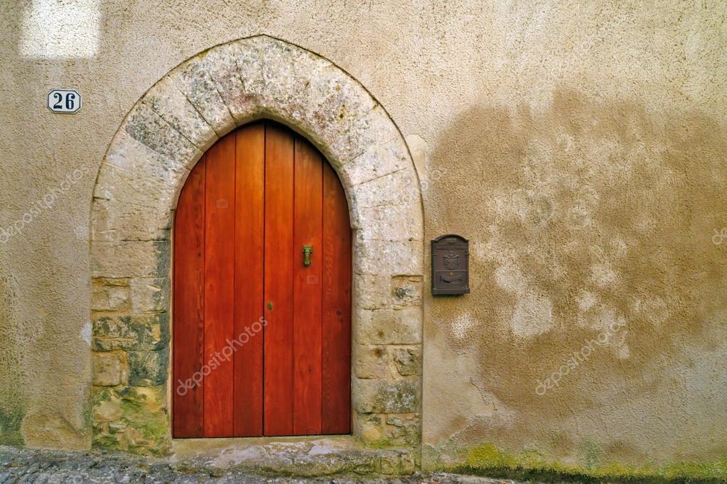 Porta in Legno Drehsperre Medioevo eine Forma di Kuppel — Stockfoto ...
