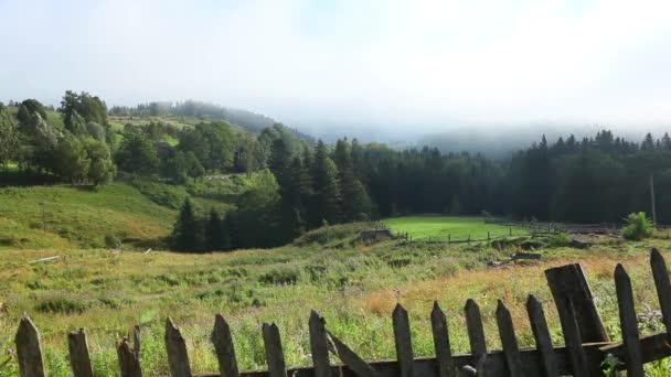 Krásná krajina v Karpatských horách