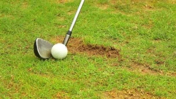 Golf-Spieler den Ball. Close-up