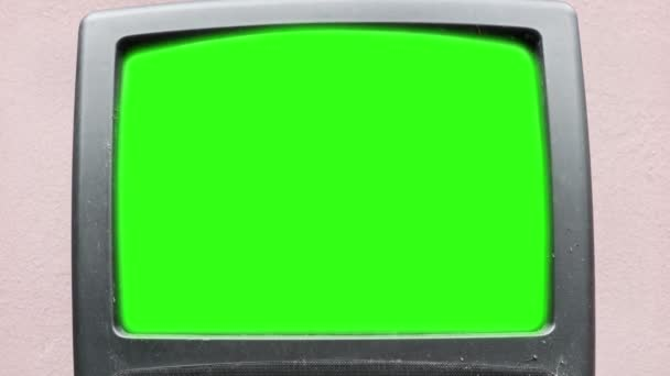 Régi vintage tv képernyő üres hely chromakey.