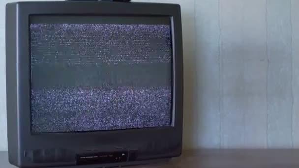 Törött régi TV képernyő hiba fekete-fehér kép