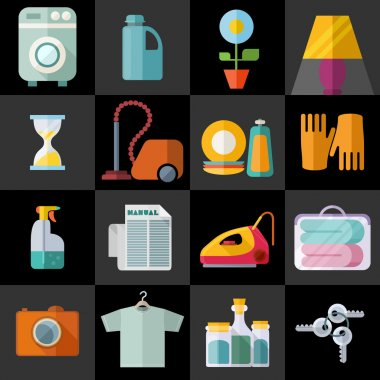 Housekeeping Theme Flat Icons