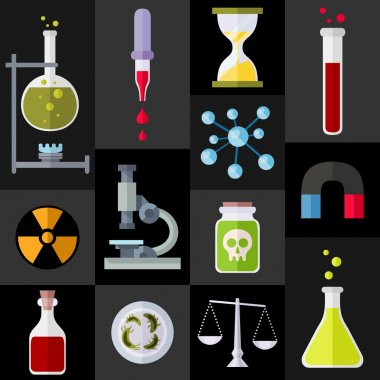Chemistry Items Flat Icons