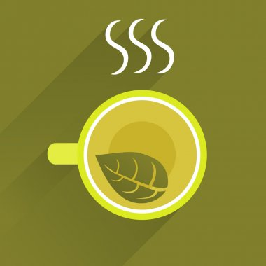 Background With Cup Of Green Tea