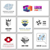 Fotografie Collection Of Abstract Signs For Internet Security Logos