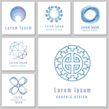 Collection Of Abstract Round Shapes For Logos