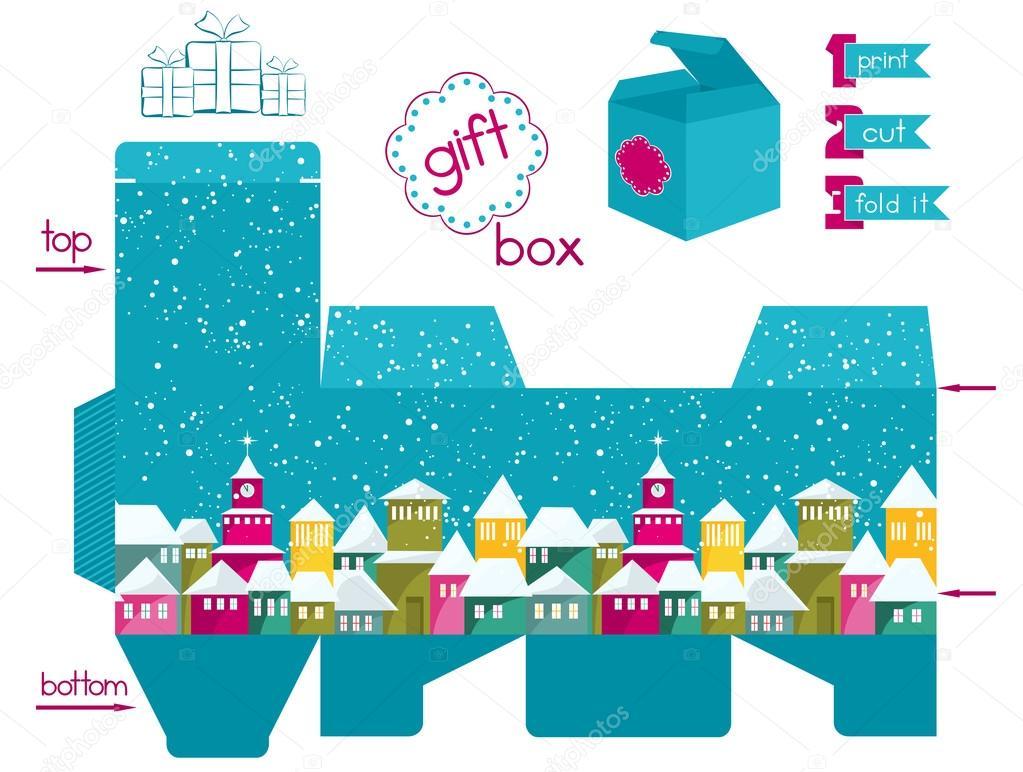 Fotos Navidad Para Imprimir Un Color Caja De Regalo Para Imprimir