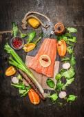 Fotografie lososovou rybí filé