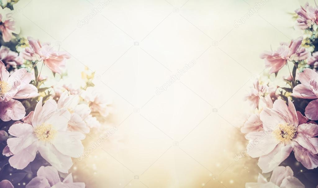 Pink Pastel Flowers Background Stock Photo Vfotografie 114543454