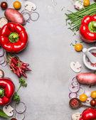 Fotografie Různá zelenina a koření