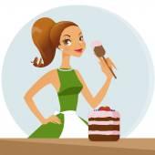 Fotografie woman baking cake