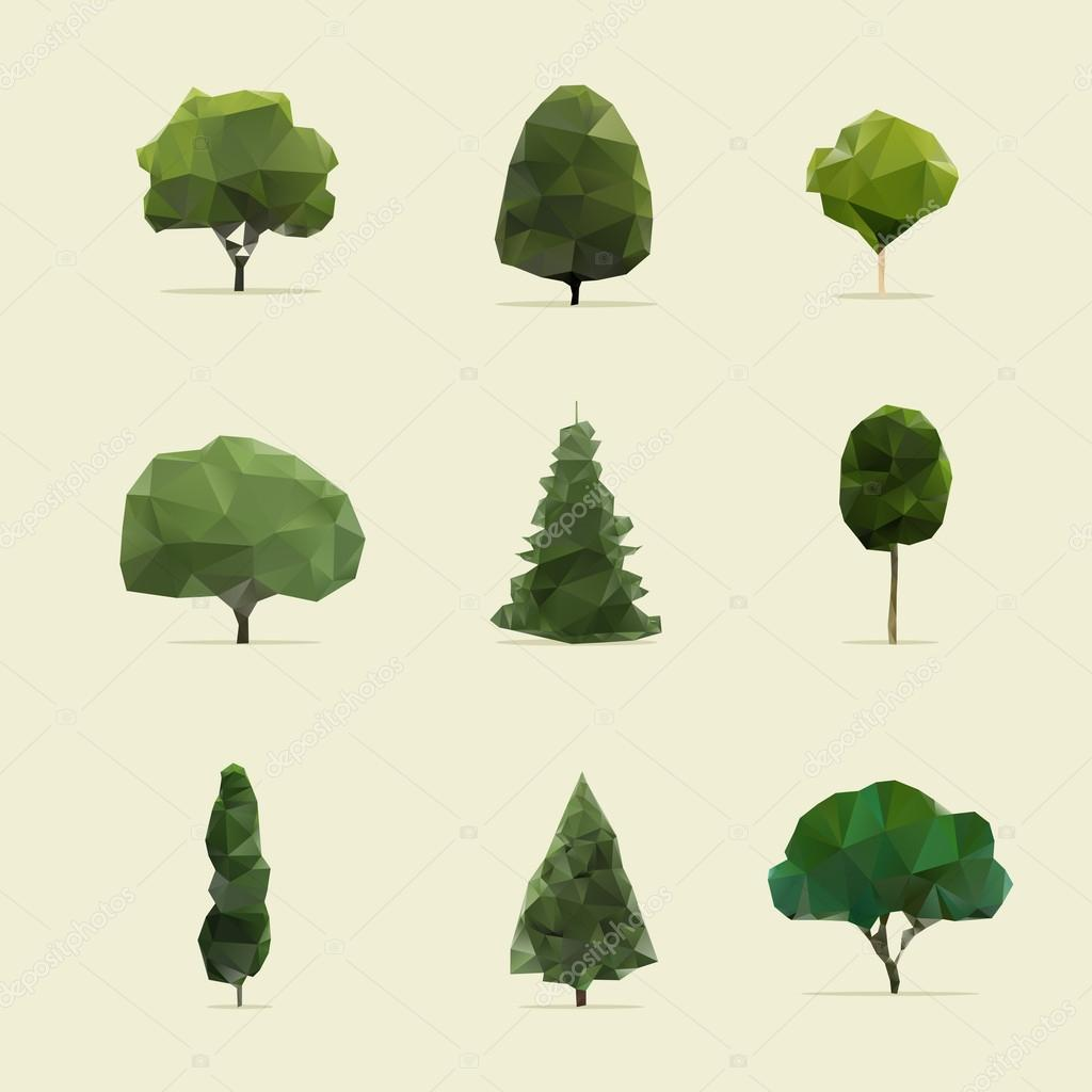 Set of geometric vector trees