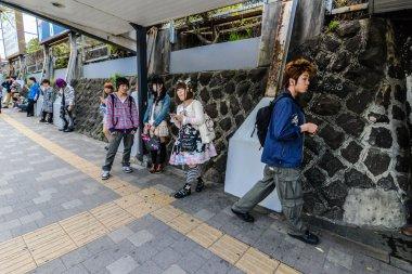 Street fashion in Harajuku area of Tokyo, Japan
