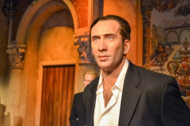 Nicolas Cage wax figure in Madame Tussaud's museum in New York