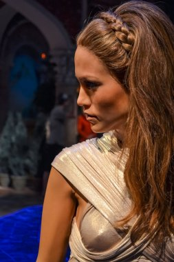 Wax portrait of Jennifer Lopez at Madame Tussaud's museum in New York