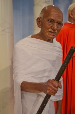 Wax portrait of Mahatma Gandhi at Madame Tussaud's museum in New York