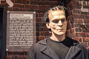 Frankenstein's wax figure in Madame Tussaud's museum in New York