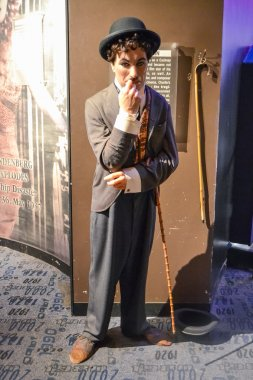 NEW YORK, CIRCA 2011 - Charlie Chaplin's wax figure in Madame Tussaud's museum in New York