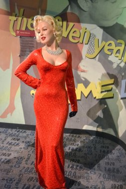 NEW YORK, CIRCA 2011 - Marilyn Monroe's wax figure in Madame Tussaud's museum in New York