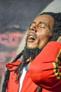 NEW YORK, CIRCA 2011 - Bob Marley's  wax figure in Madame Tussaud's museum in New York