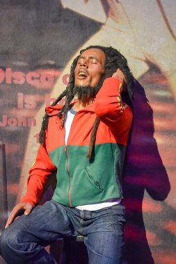 NEW YORK, CIRCA 2011 - Bob Marley's wax figure in Madame Tussaud's museum in New York