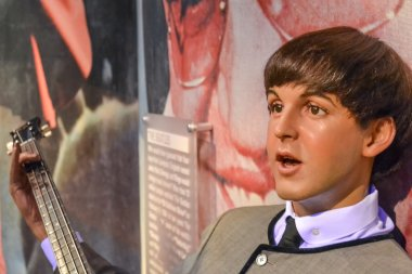 NEW YORK, CIRCA 2011 - Young Paul McCartney's wax figure in Madame Tussaud's museum in New York