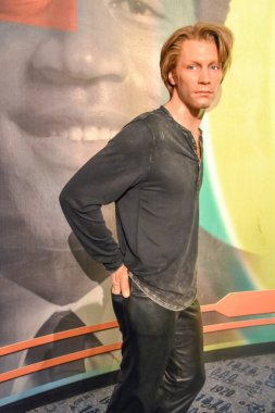 NEW YORK, CIRCA 2011 - Jon Bon Jovi's wax figure in Madame Tussaud's museum in New York