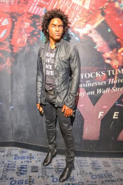 NEW YORK, CIRCA 2011 - Lenny Kravitz wax figure in Madame Tussaud's museum in New York
