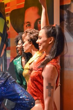 NEW YORK, CIRCA 2011 - Spice Girls band's wax figures in Madame Tussaud's museum in New York