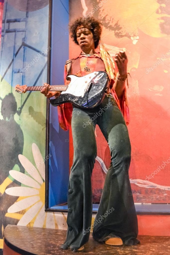 NEW YORK, CIRCA 2011 - Jimi Hendrix's wax figure in Madame Tussaud's museum in New York