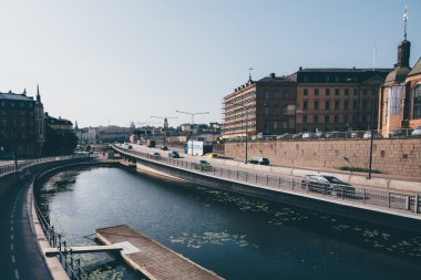 STOCKHOLM, SWEDEN - CIRCA JULY 2014: canal in Stockholm, Sweden circa July 2014.