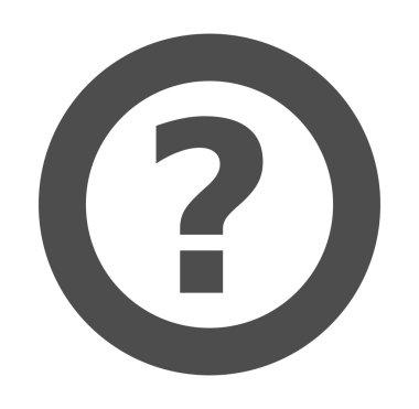 Question mark gray