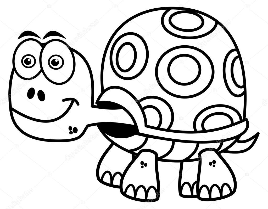 tortuga para colorear — Archivo Imágenes Vectoriales © hurgem #77873702