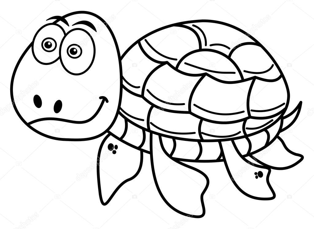 Mutlu Kaplumbağa Boyama Stok Vektör Hurgem 78808376
