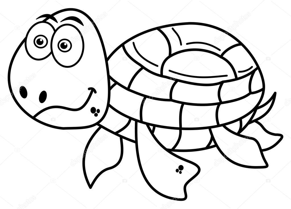 glückliche Schildkröte Färbung — Stockvektor © hurgem #78808448