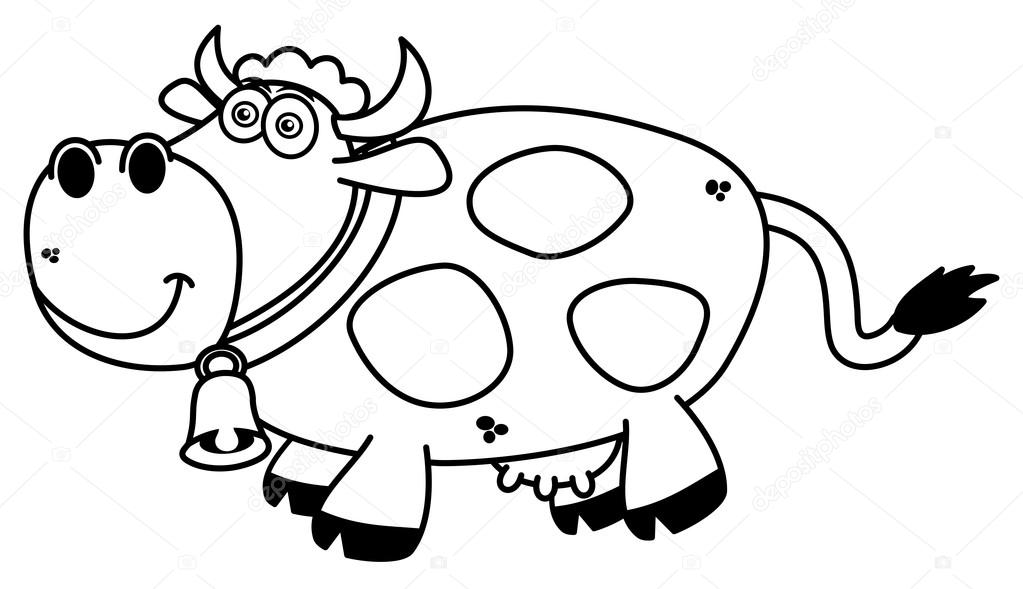 A Smiling Cow Coloring Stock Vector C Hurgem 80135830