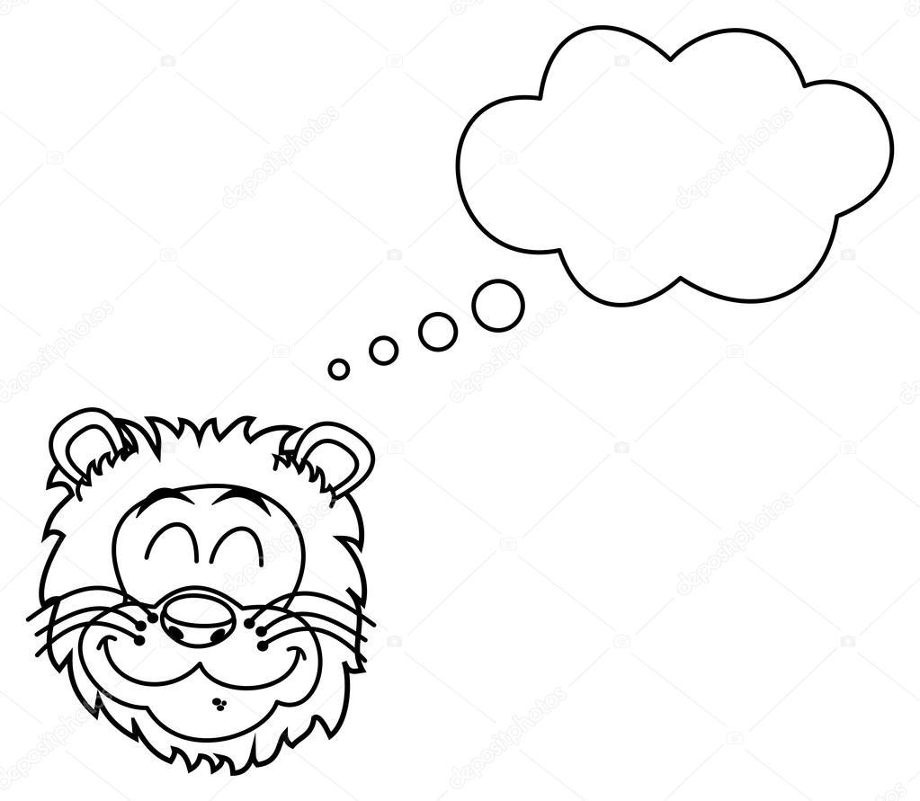 León soñando para colorear — Archivo Imágenes Vectoriales © hurgem ...