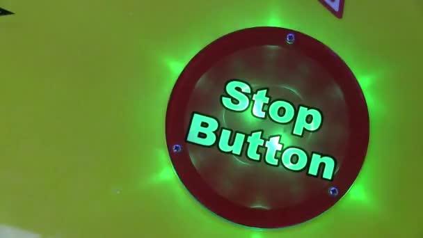 pulsante di stop rosso lampeggiante