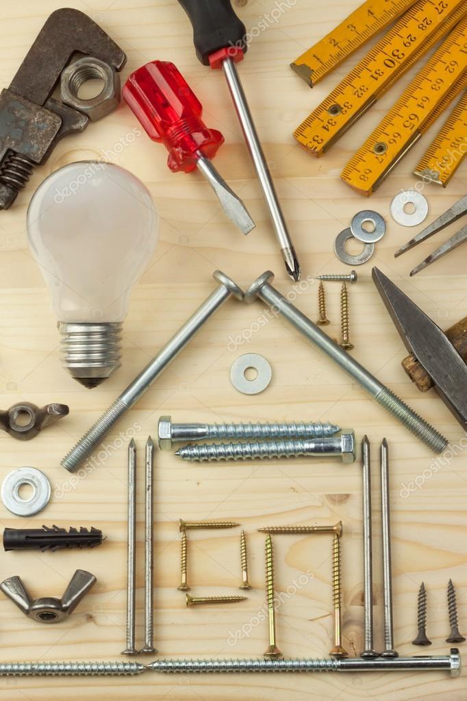 Wir Bauen Ein Haus Fur Die Familie Plane Ein Kleines Haus Zu Bauen