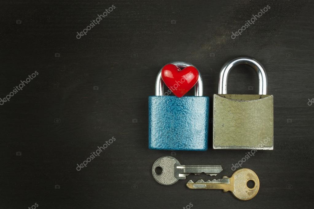 Symbol Of Love And Happiness Lock And Heart Key To The Heart